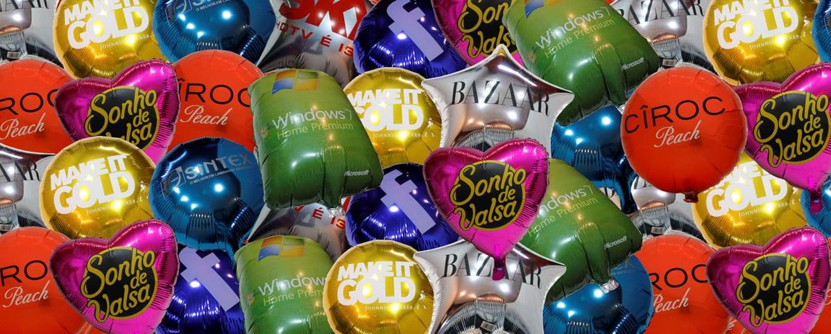 Fabricações de balões metalizados personalizados
