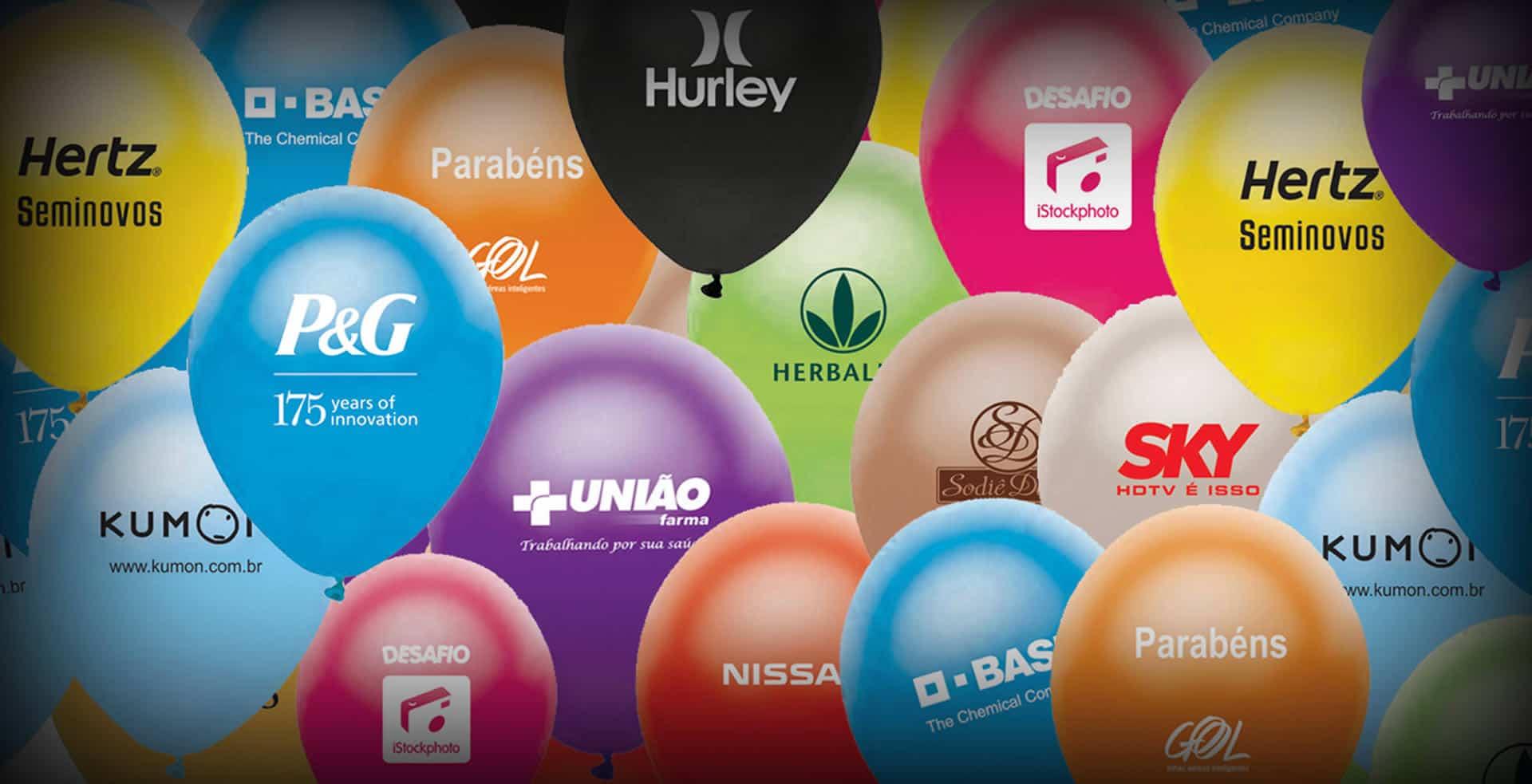 Fabricação de balões de látex personalizados